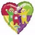 teletubbies character heart shaped foil balloon