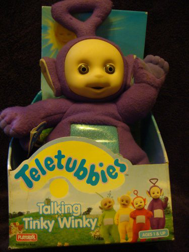 The Original Issue Talking Tinky Winky 14 Plush. Squeeze The Belly And Tinky Talks, 1998 .