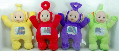 Set Of 4 Plush Dolls Featuring 8 Po