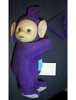 Teletubbies Tinky Winky Plush Clip Ons